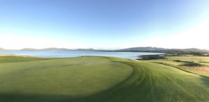 hogs head green and bay 300x147 - Ireland Golf Vacation 2018: What's New?