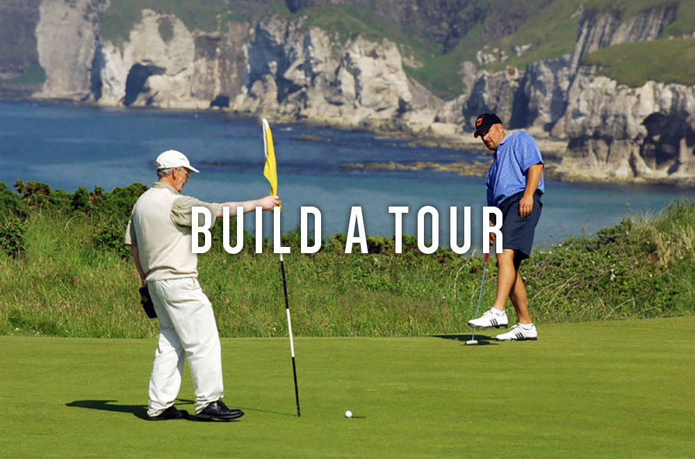 Build your own bespoke golf tour. Real Irish golf.